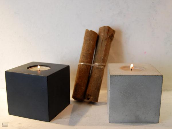 świeczniki z betonu