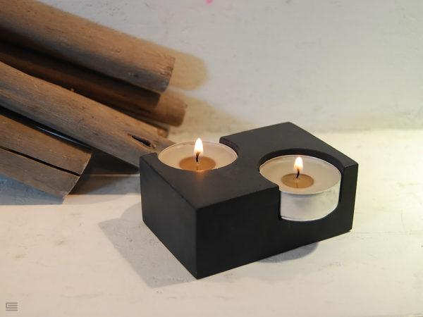 świecznik z betonu