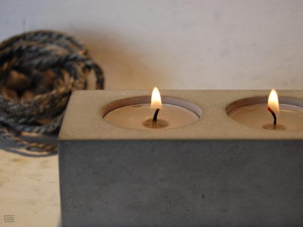 świecznik betonowy
